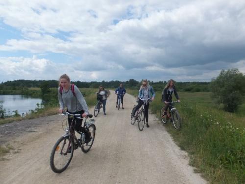 Wycieczka rowerowa turystów z III TOH