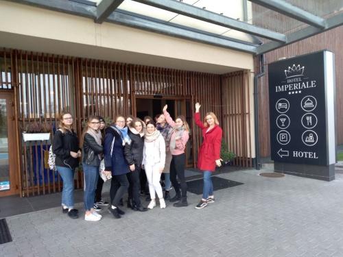 Turyści z III TOH z wizytą w Hotelu Imperiale